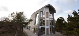Çevre dostu geri dönüştürülebilir doğal ev tasarımı