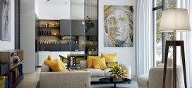 Modern Oturma Odalarında Sarı Renk