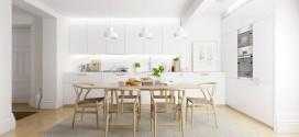 En güzel 25 Beyaz Ahşap Yemek Odası