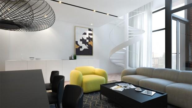 Tek bir sarı berjer odanın atmosferini nasıl değiştirmiş.